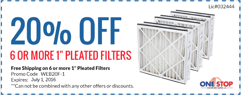 Onestop Coupons Pleated Filters