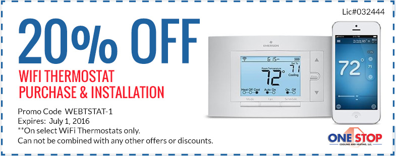 Onestop Coupons Thermostat Purchase